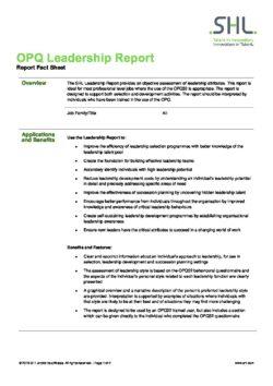 OPQ Leadership Report