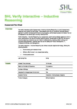 Verify Interactive – Inductive Reasoning
