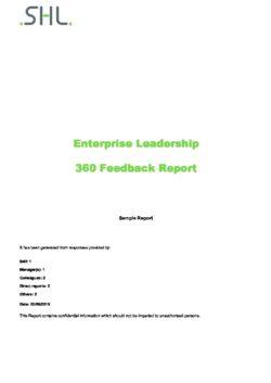 Enterprise Leadership Report