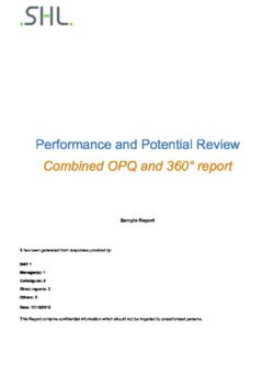 MFS360 Performance & Potential (with Dev Tips) Sample Report
