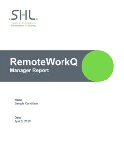 RemoteWorkQ - Manager Report