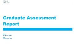 SHL_OPQ32 Graduate Assessment Report