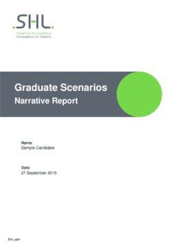 SHL Graduate Scenarios Narrative